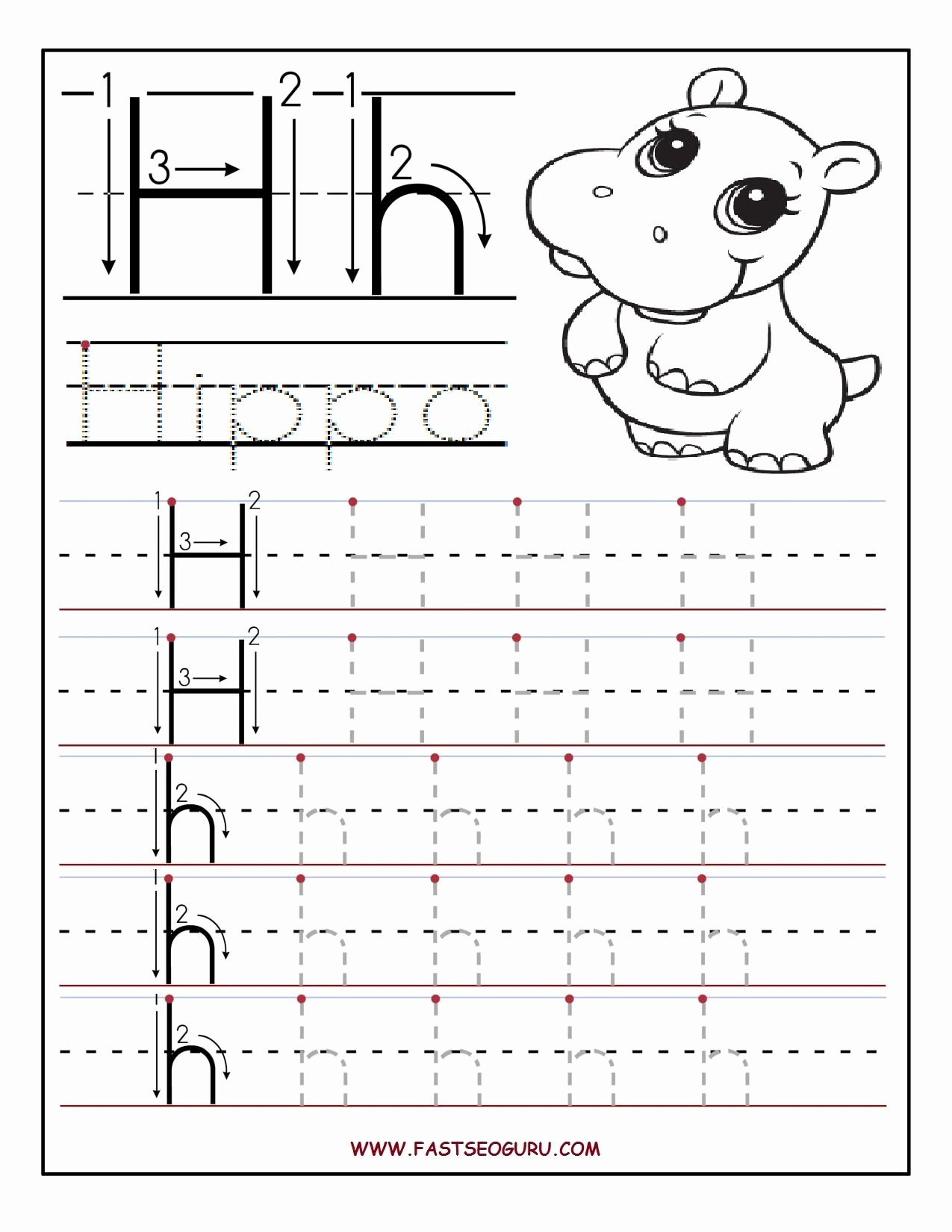 Letter H Tracing Worksheets Preschool Inspirational Pin by B R On Letter H Pre K