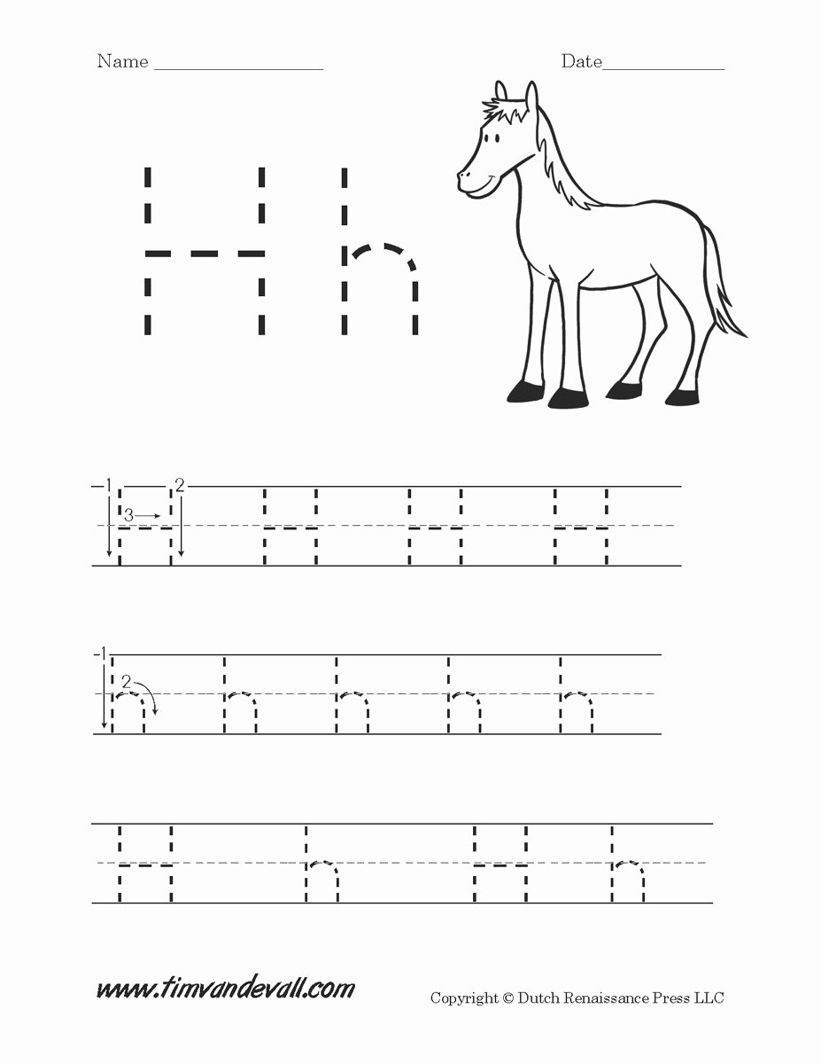 Letter H Tracing Worksheets Preschool Printable Letter H Worksheets