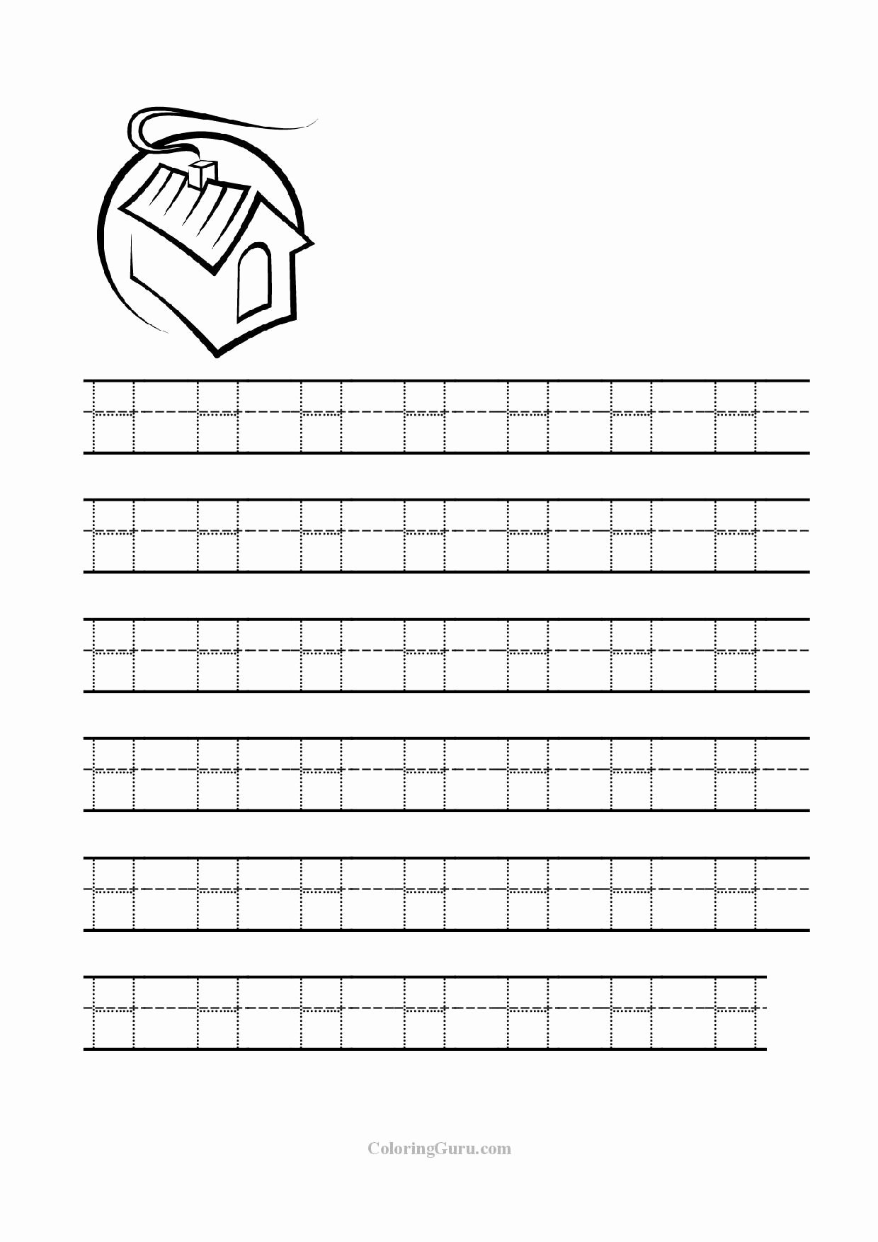 Letter H Tracing Worksheets Preschool top Free Printable Tracing Letter H Worksheets for Preschool