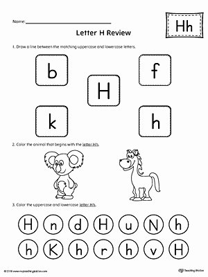 Letter H Worksheets for Preschoolers Best Of All About Letter H Printable Worksheet