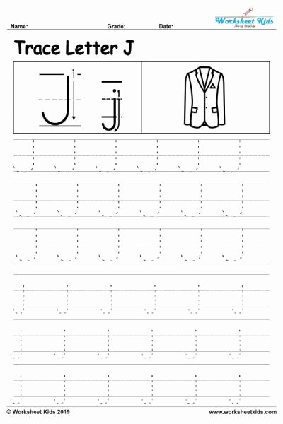 Letter J Tracing Worksheets Preschool Fresh Letter J Alphabet Tracing Worksheets Free Printable Pdf