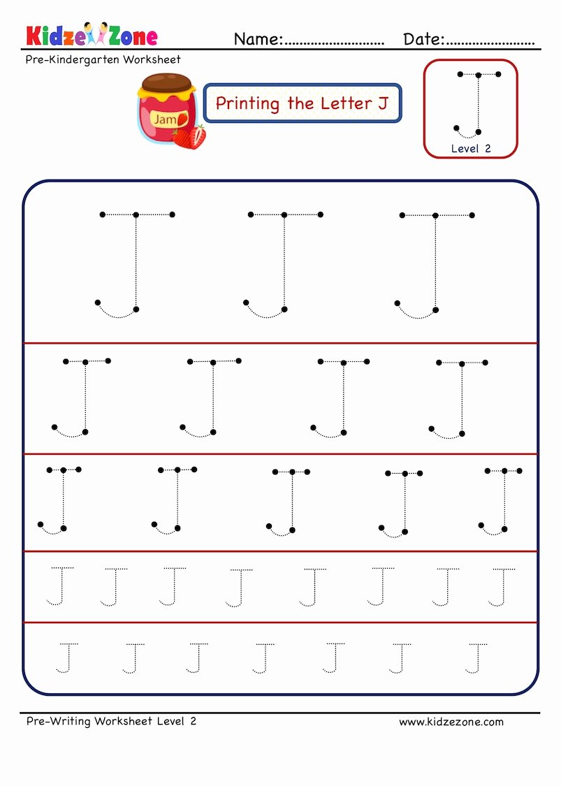 Letter J Tracing Worksheets Preschool Fresh Preschool Letter Tracing Worksheet Letter J Different