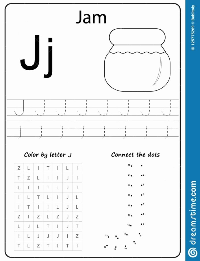 Letter J Tracing Worksheets Preschool Lovely Writing Letter Worksheet Alphabet Exercises Game for Kids