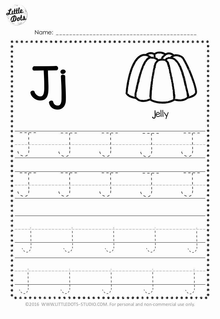 Letter J Worksheets for Preschool Fresh Free Letter J Tracing Worksheets
