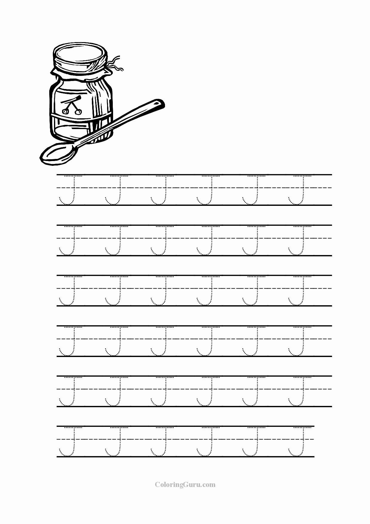 Letter J Worksheets for Preschool Fresh Free Printable Tracing Letter J Worksheets for Preschool