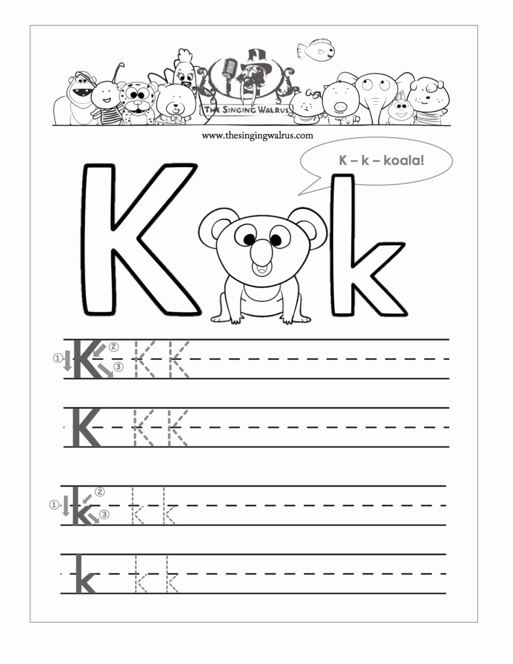 Letter K Tracing Worksheets Preschool Best Of Worksheet Free Printable Letter K Barka Fantastic