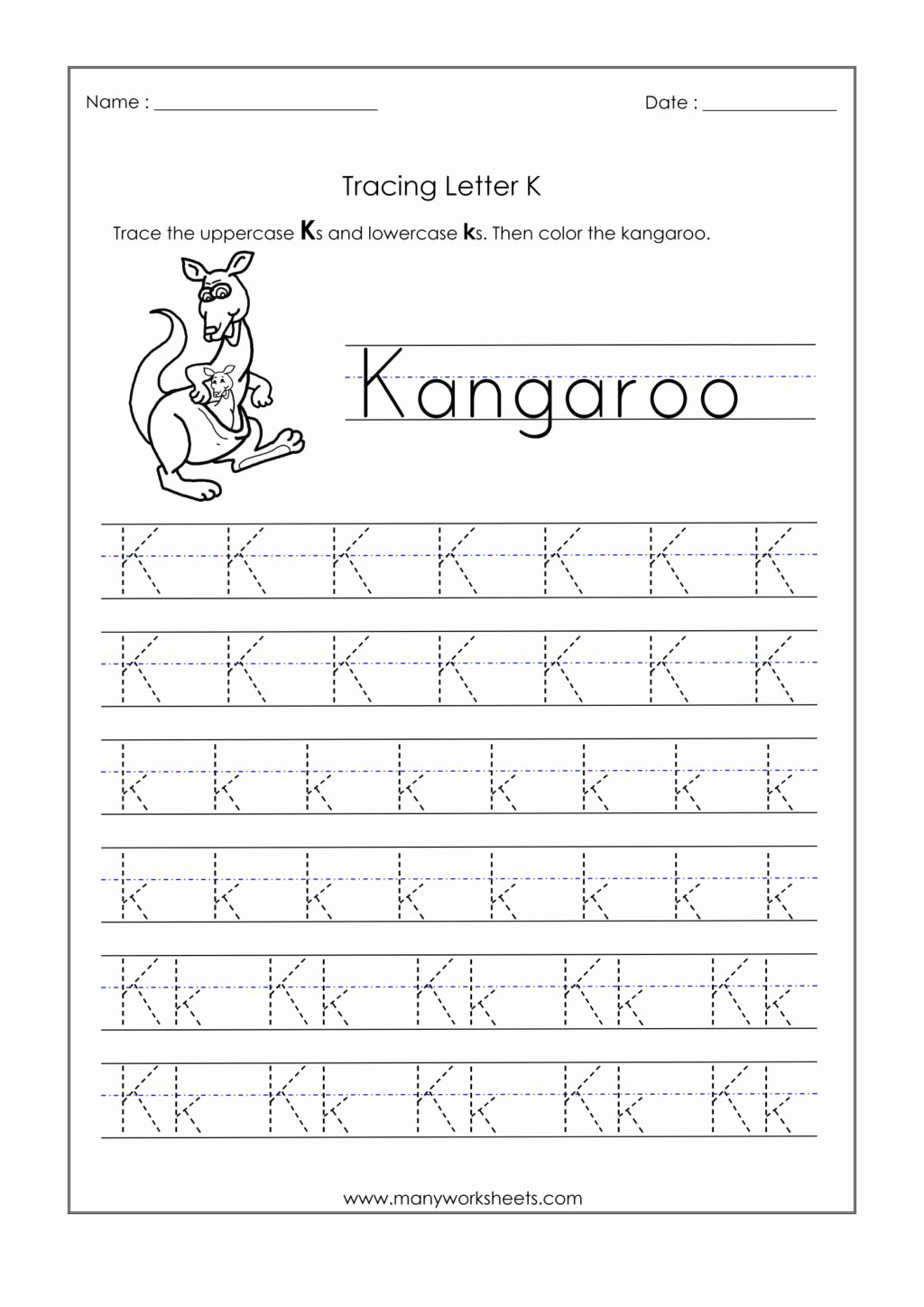 Letter K Tracing Worksheets Preschool Fresh Worksheet Worksheet Letter K Tracing Worksheets for