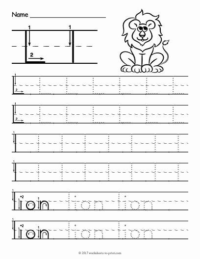 Letter L Worksheet for Preschool Fresh Free Printable Tracing Letter L Worksheet