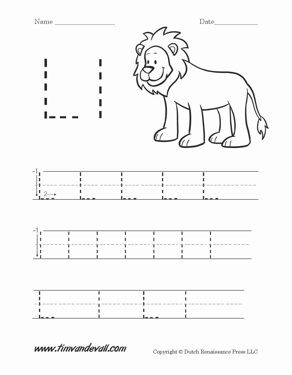 Letter L Worksheet for Preschool Fresh Worksheet Letter L Preschool