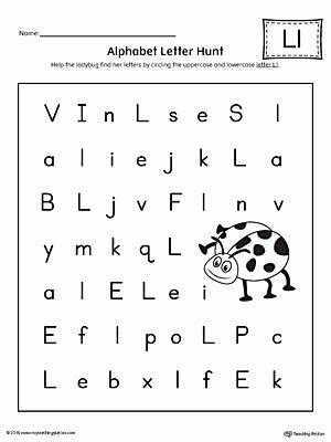 Letter L Worksheet for Preschool Printable Worksheet Alphabetol Worksheets Incredible Letter Hunt L