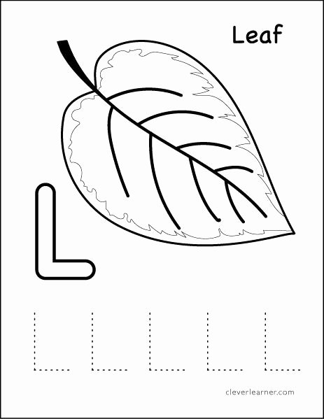 Letter L Worksheets for Preschool Fresh L Stands for Leaf Preschool Worksheet