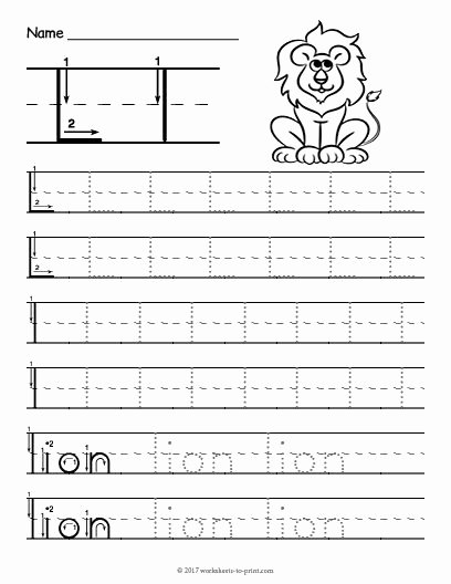 Letter L Worksheets for Preschool top Free Printable Tracing Letter L Worksheet