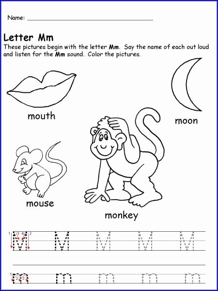Letter M Worksheets for Preschoolers Best Of Pin by Jessica Eaton On Anniversary