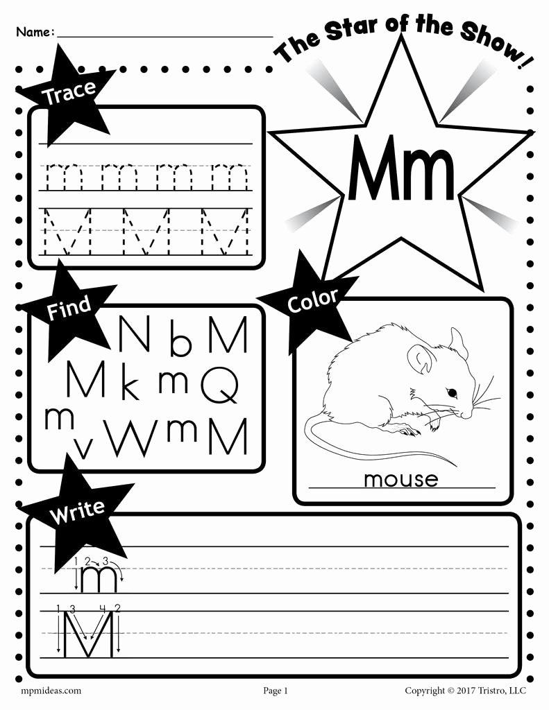 Letter M Worksheets for Preschoolers Fresh Letter M Worksheet Tracing Coloring Writing & More