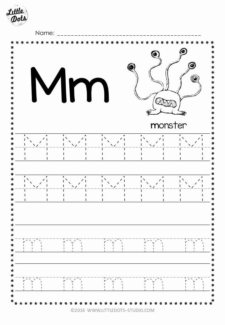Letter M Worksheets for Preschoolers Lovely Free Letter M Tracing Worksheets