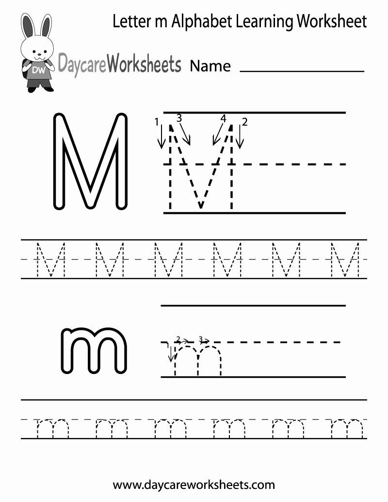 Letter M Worksheets for Preschoolers New Take Letter Tracing 7 Worksheets Free Printable Worksheets
