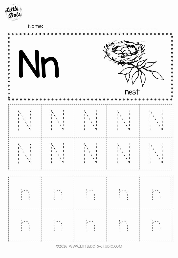 Letter N Worksheets for Kindergarten top Free Letter N Tracing Worksheets