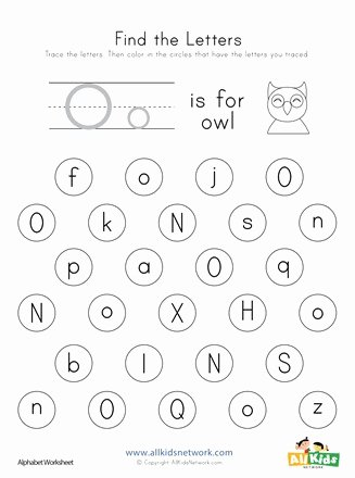 Letter O Worksheet for Kindergarten Free Find the Letter O Worksheet