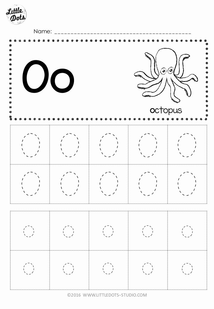 Letter O Worksheet for Kindergarten Kids Free Letter Oo Tracing Worksheets