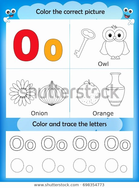 Letter O Worksheet for Kindergarten top Alphabet Learning Letters Coloring Graphics Printable