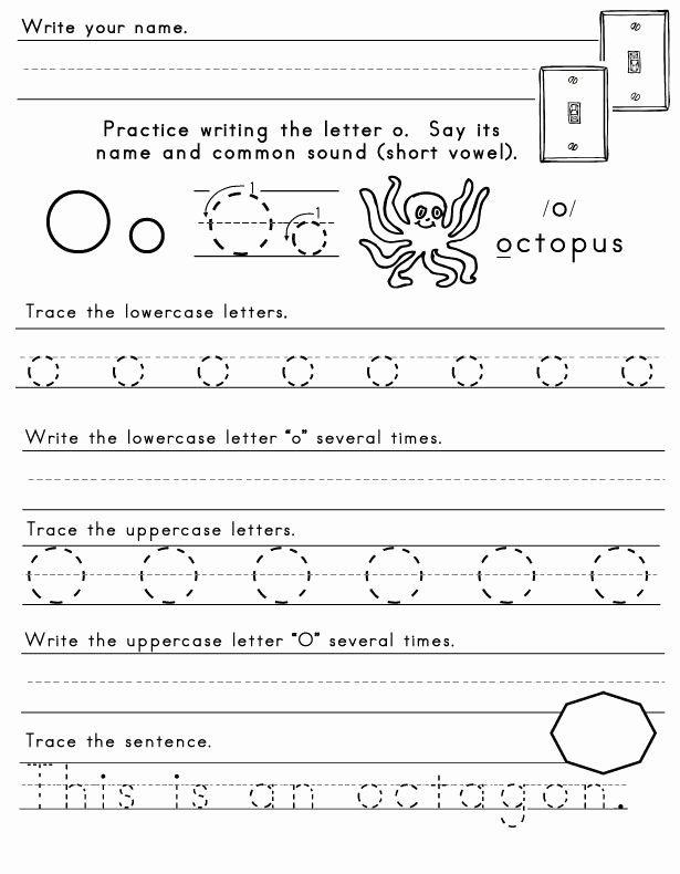 Letter O Worksheet for Kindergarten top Letter O Worksheet 1