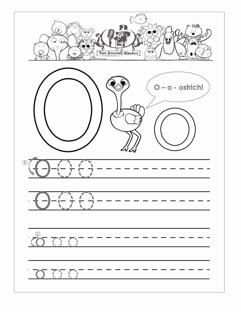Letter O Worksheets for Preschool Best Of Worksheet the Letter Oorksheets for Kindergarten Object
