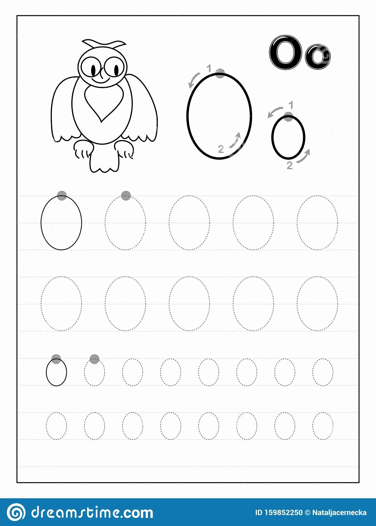 Letter O Worksheets for Preschool Free Tracing Alphabet Letter O Black and White Educational Pages