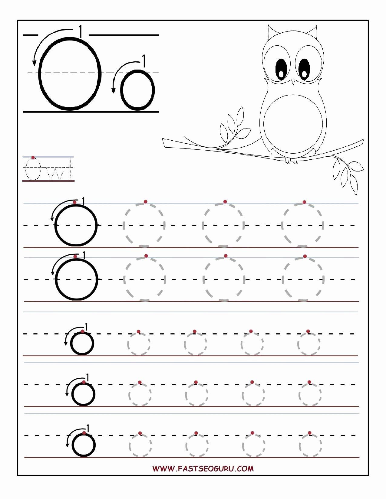 Letter O Worksheets for Preschool Kids Printable Letter O Tracing Worksheets for Preschool