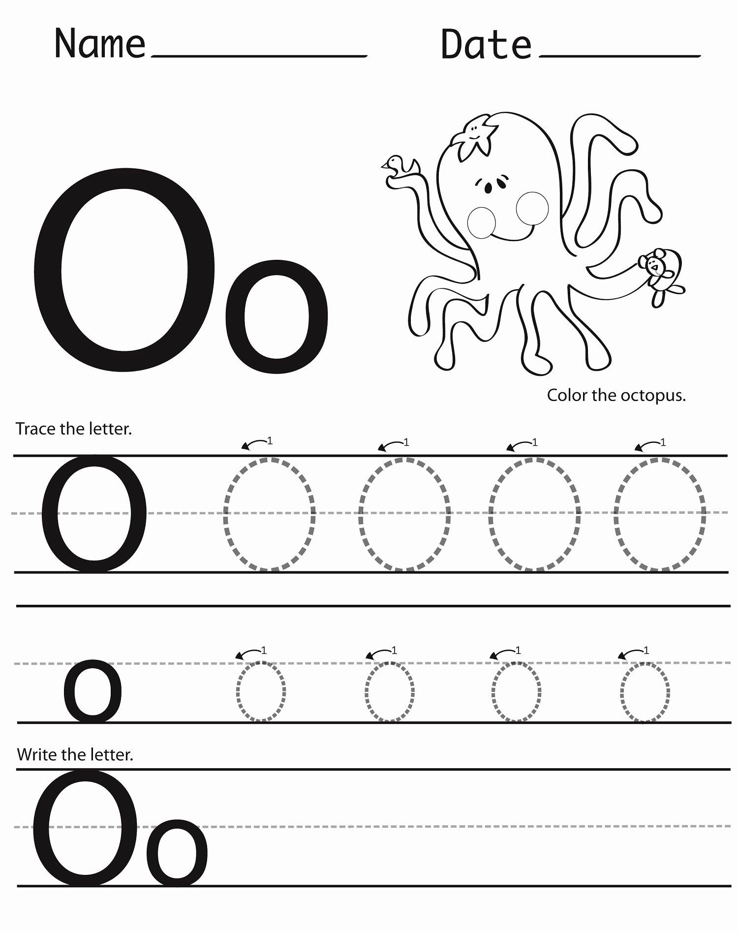 Letter O Worksheets for Preschool Printable Letter O Worksheets for Preschool