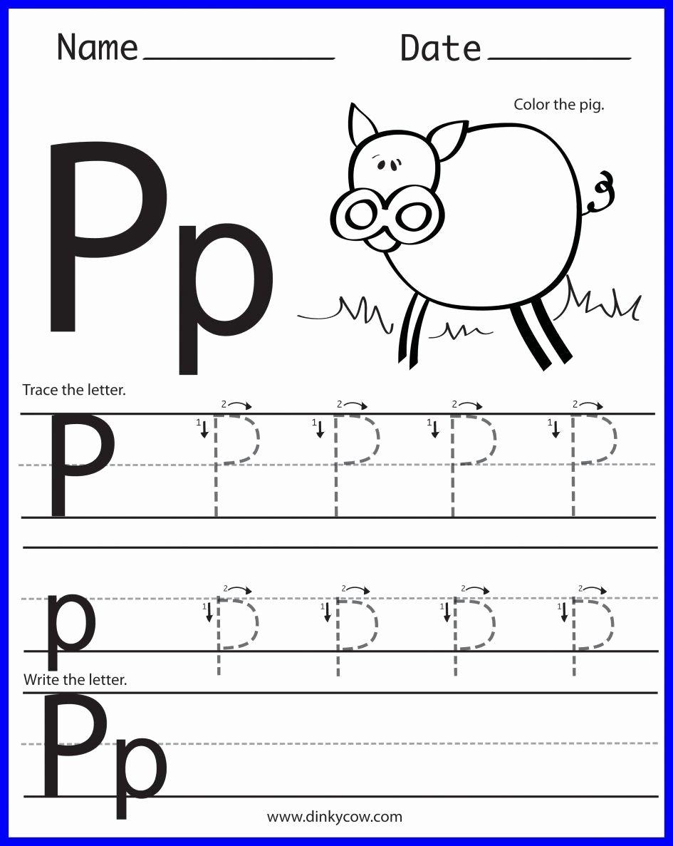 Letter P Worksheets for toddlers Fresh 14 Constructive Letter P Worksheets