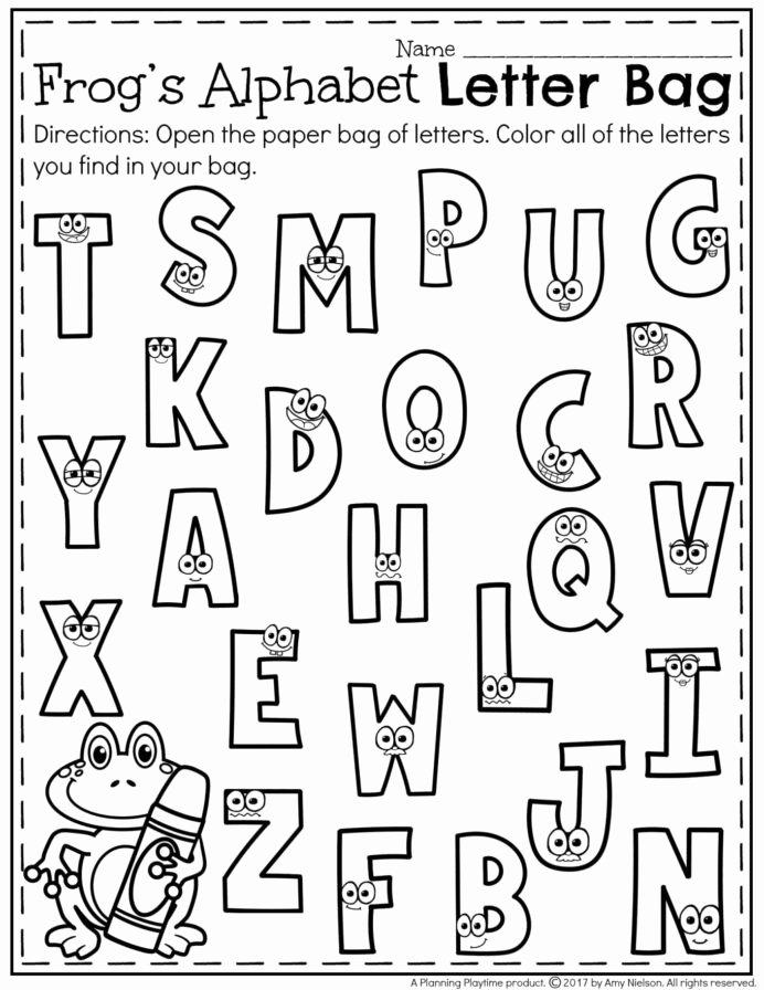 Letter Recognition Worksheets for Kindergarten top Letter Recognition Worksheets In Kindergarten Name
