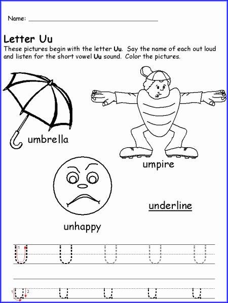 Letter U Worksheets for Kindergarten Best Of Letter U Worksheet Kindergarten Printables Worksheets for