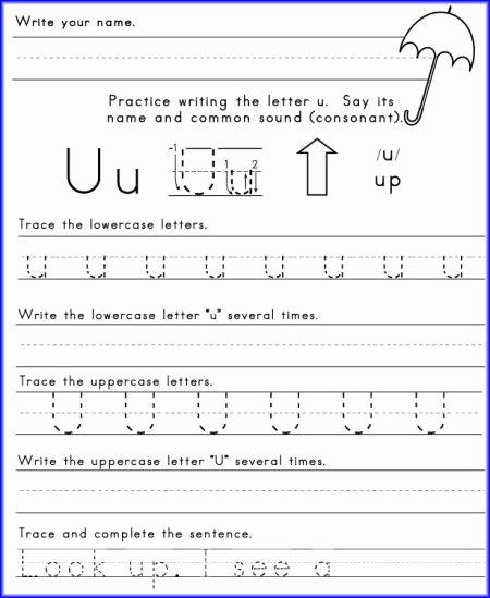 Letter U Worksheets for Kindergarten Kids Alphabet Letter U Worksheet for Kindergarten