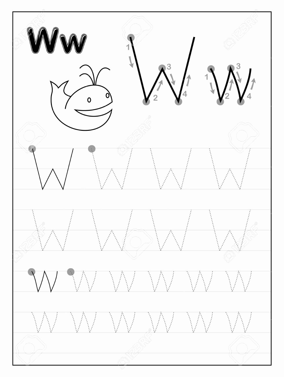 Letter W Worksheets for Preschoolers Free Worksheet Dotted Alphabet Worksheets Worksheet Ideas