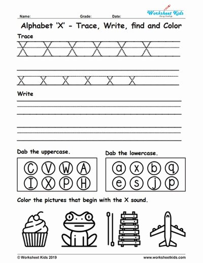Letter X Worksheets for Kindergarten Ideas Alphabet Letter X Trace Write Find Color Free Printable Pdf