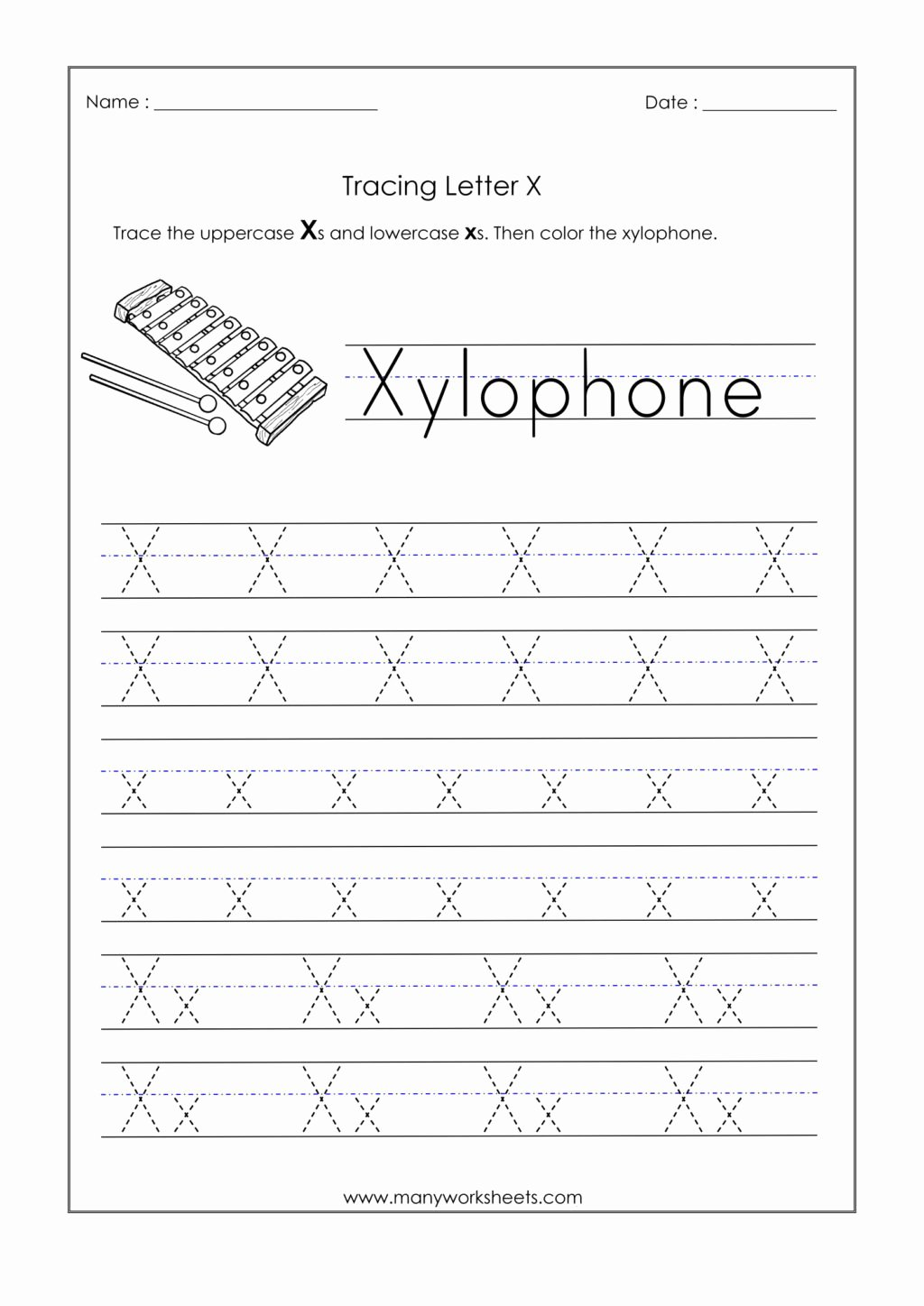 Letter X Worksheets for Preschool Lovely Worksheet Alphabetiting Sheets Letter X Tracing Worksheet