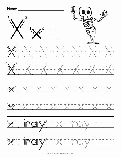 Letter X Worksheets for Preschoolers New Free Printable Tracing Letter X Worksheet