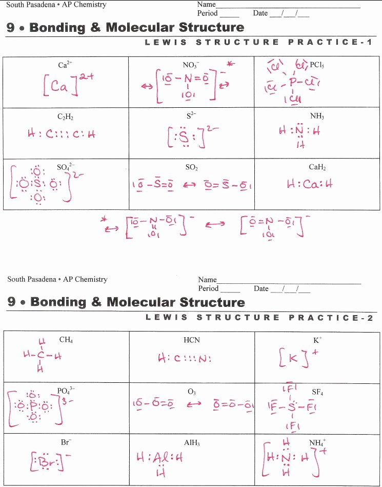 Lewis Dot Structure Practice Worksheet Ideas Lewis Structure Practice Worksheet Unique Chemistry 162 Exam