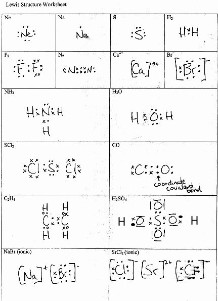 Lewis Structure Worksheet with Answers Inspirational Lewis Structure Worksheet with Answers Nidecmege