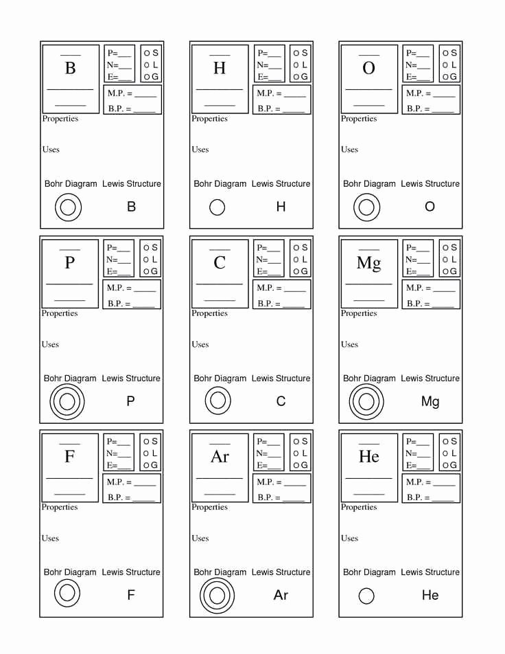 Lewis Structures Worksheet with Answers Free Lewis Structure Worksheet 1 Answer Key In 2020
