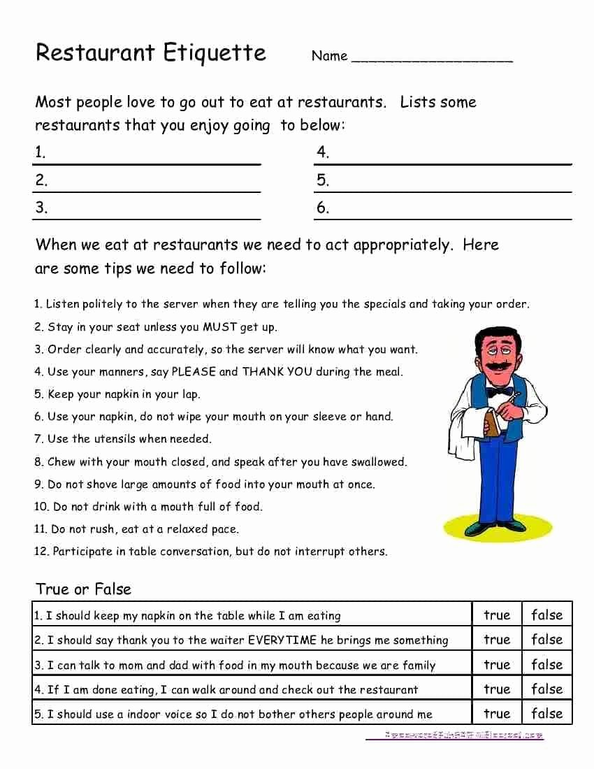 Life Skills for Adults Worksheets Ideas Free Life Skills Worksheets for Highschool Students and Free
