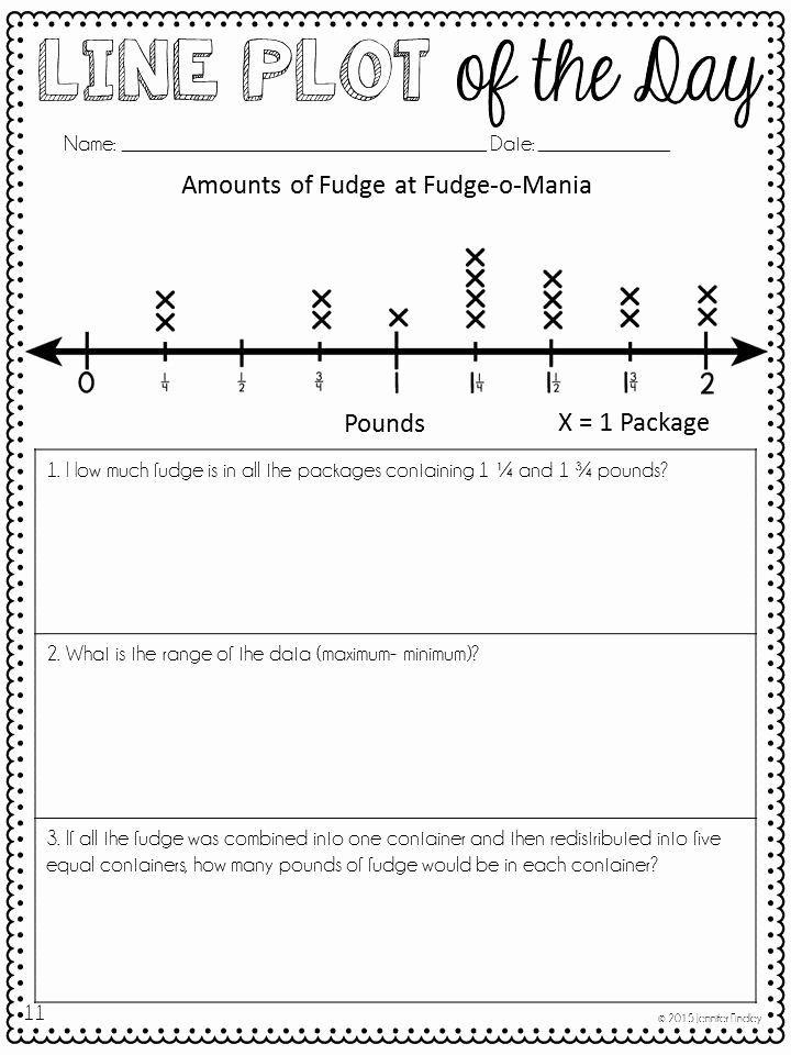 Line Plot Worksheet 5th Grade Inspirational Line Plot Of the Day with Digital Line Plots Practice