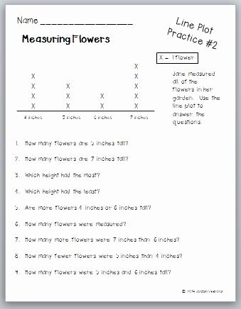 Line Plot Worksheets 2nd Grade top Learning About Line Plots