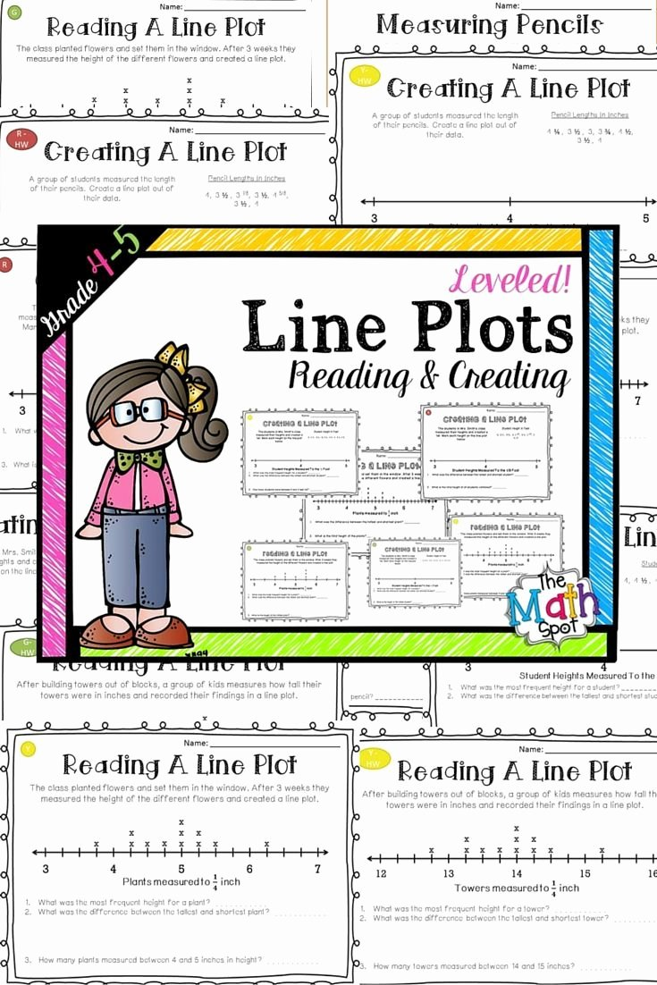 Line Plots 3rd Grade Worksheets top Line Plots Worksheets Distance Learning Packet