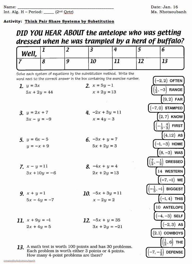 Linear Equation Word Problems Worksheet New Linear Equations In E Variable Word Problems Worksheet Doc