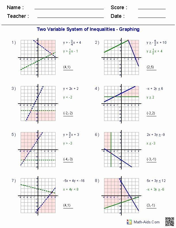 Linear Equations and Inequalities Worksheet Best Of Pin On Printable Education Worksheet Templates