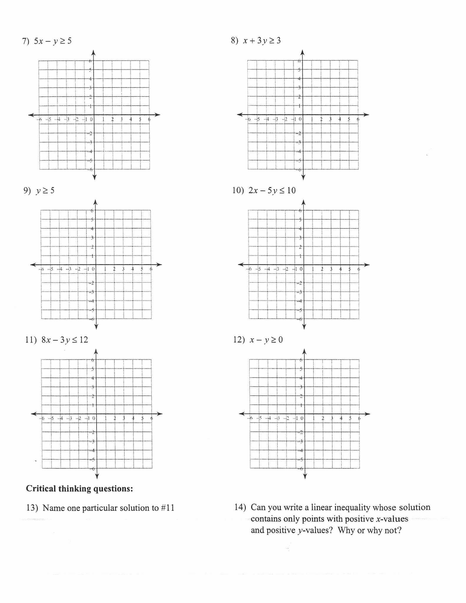 Linear Equations and Inequalities Worksheet Inspirational Worksheets 49 Splendi Graphing Linear Equations Worksheet