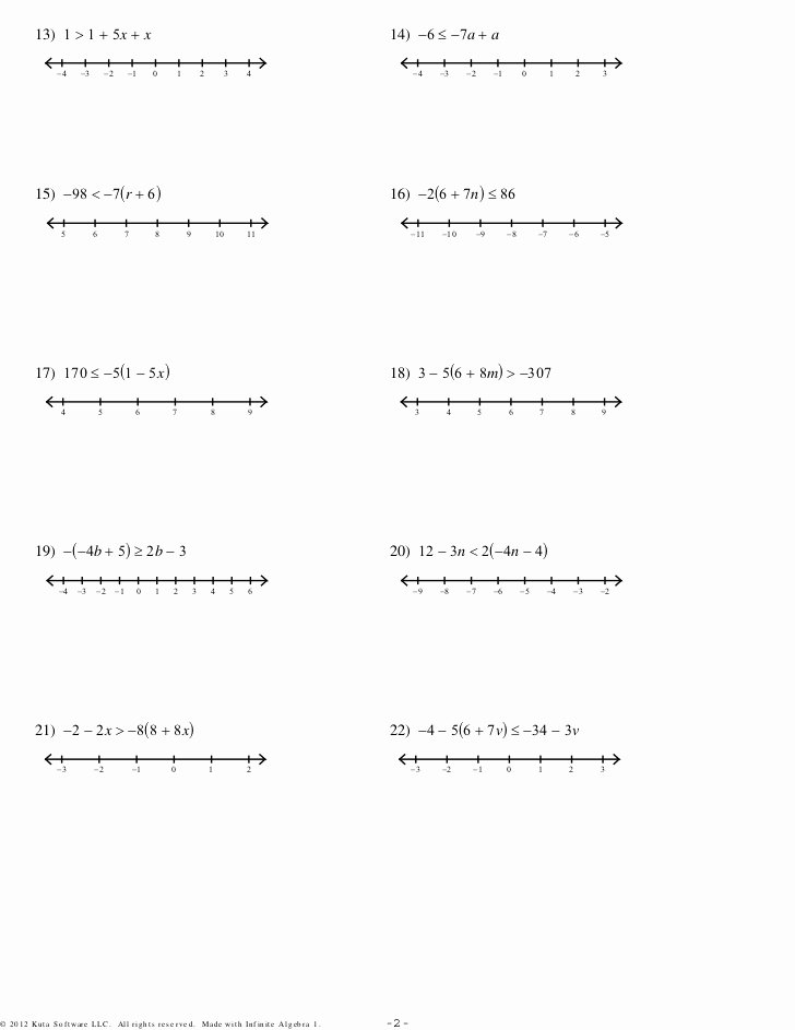 Linear Equations and Inequalities Worksheet top Multistep Equations and Inequalities 3sets Pdf