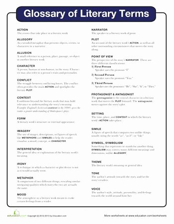 Literary Elements Worksheet High School Printable Literary Devices Worksheet Pdf Elegant Literary Terms