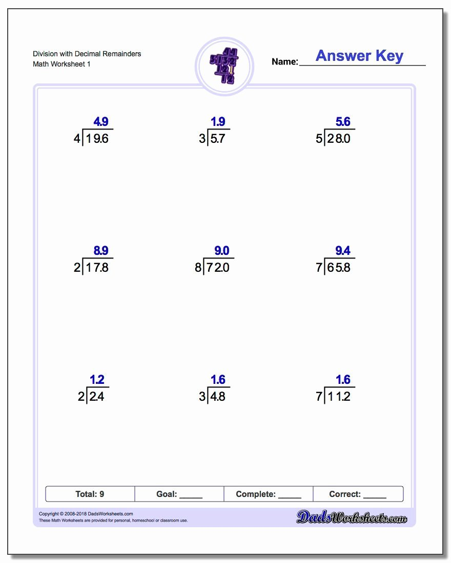Long Division Worksheets 5th Grade top Part Of A Free Collection Of Printable Long Division